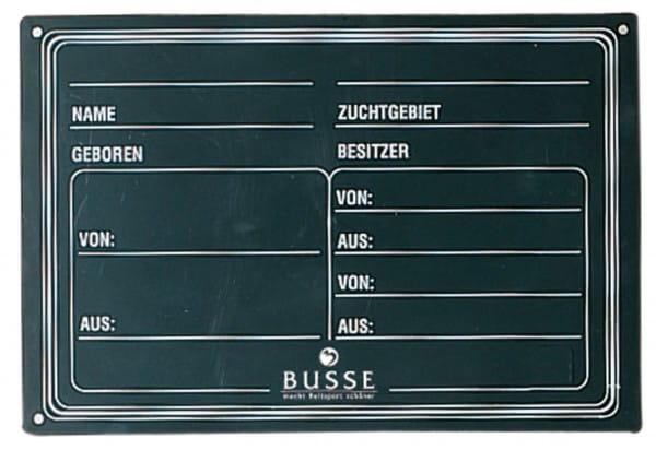Abstammungstafel PVC © BUSSE GmbH