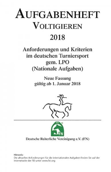 Aufgabenheft 2018 - Voltigieren - Inhalt (Nat. Aufg.) © BUSSE GmbH
